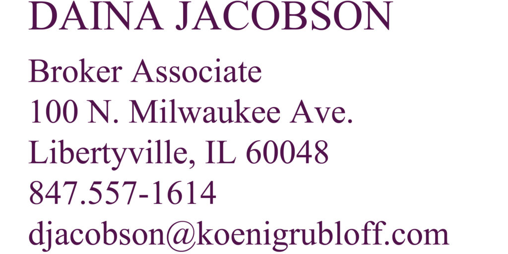Daina Jacobson business card